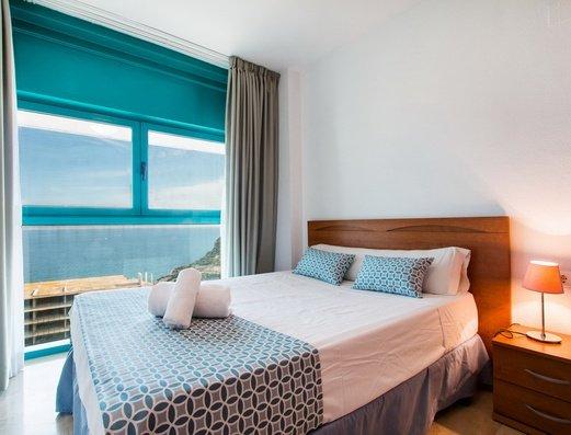 Спальня в квартире 2/4 Отель Magic Atrium Beach
